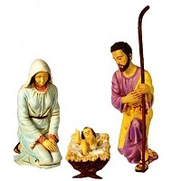 """Queens ofクリスマスwl-nativity-cl 3Piece """" Holy Family """" Figurine , 38"""""""