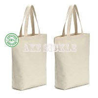 "Axe鎌( 4 per pack ) 12oz Heavyキャンバストートバッグ15.9 "" W x 15.9 "" H x 3.8 ""底マチ付き、ショッピングバッグ、Grocery Toteバッグ..."