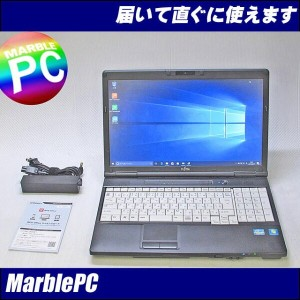 中古パソコン 富士通 LIFEBOOK A572E/Corei5-3320M 2.6GHz/MEM4G/HDD320GB/DVDマルチ/15.6HD/WebCam/テンキー/Win7Pro...