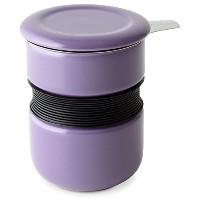 FORLIFE Curve Asian Style Tea Cup with Infuser and Lid, 12-Ounce, Purple [並行輸入品]