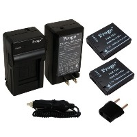 Progo DMW-BCJ13e Power パック (Two Li-イオン Rechargeable Batteries and ポケット トラベル AC/DC ウォール Charger with...