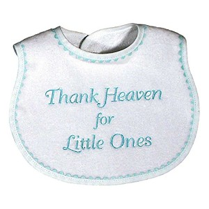 Raindrops Embroidered Bib, Thank Heaven for Little Ones by Raindrops