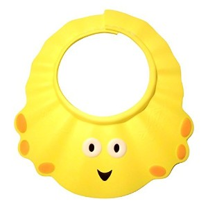 Baby Adjustable Durable Shower Shield - BPA Free (Yellow A) by XBY
