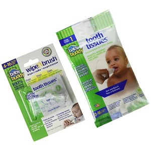 Baby Buddy Wipe-N-Brush & 30 Wipes Stage 3 for Babies/Toddlers, Kids Love Them, Clear by Baby Buddy