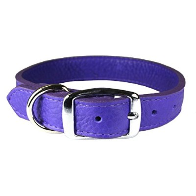 OmniPet 6267-VI18 Luxe Leather Dog Collar, Violet by OmniPet