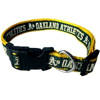 Oakland A's Dog Collar Small