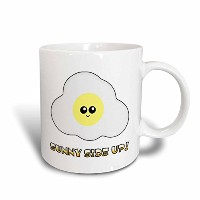 3drose Dooni Designs Cute Kawaii Designs – Cute Kawaii Sunny Side Up Kawaii Egg – マグカップ 11 oz ホワイト...