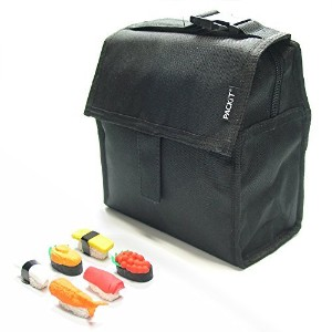 PackIt Mini Cooler / Snack bag-ブラックwith Sushi消しゴム