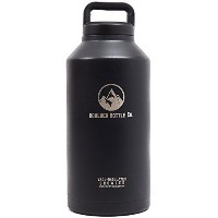 Insulated Beer Growler, Double-Wall Vacuum, Stainless Steel, 64oz by Boulder Bottle Co.