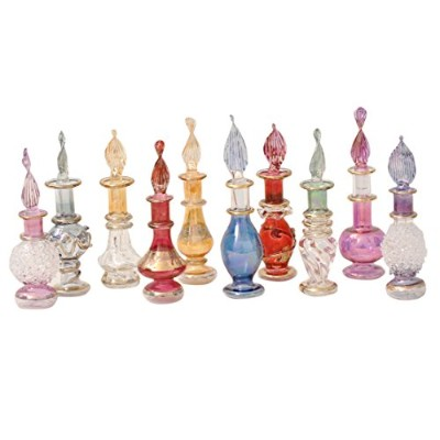 (Set of 20) - CraftsOfEgypt Genie Blown Glass Miniature Perfume Bottles for Perfumes & Essential...