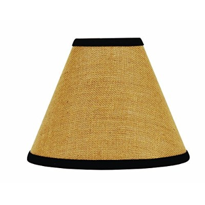 Home Collection by Raghu Black Burlap Stripe Lampshade, 6 by Home Collection by Raghu