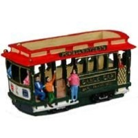 """San Francisco Cable Car 3.5"""" Poly Candyボックスwith Copyrighted Exclusiveポール・ハーバートPoem"""