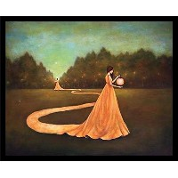 """Buyartforless Framed """" Unwinding The Path to自己検索"""" by Duy HuynhアートプリントPretty Surrealランタンライト、28"""" x..."""