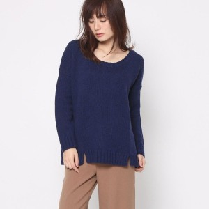 【SALE 73%OFF】ナノ ユニバース NANO UNIVERSE outlet FINE COLLECTION バックチェックニット (ネイビー)