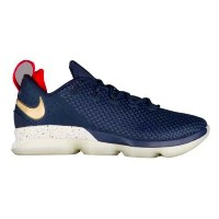 "Nike Lebron 14 XIV Low ""Midnight Navy""メンズ Midnight Navy/University Red-Metallic Gold ナイキ バッシュ レブロン..."