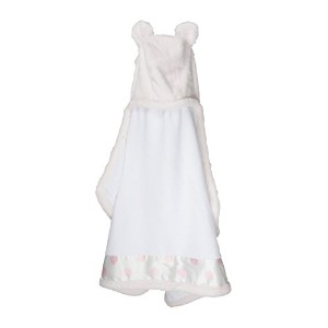 Little giraffe - Cape de bain Luxe New Dot rose clair - rose clair