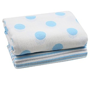 juDanzy 100% Cotton Swaddle Set of 2 Large 45X45 Muslin Baby Girl or Boy Blankets (Prince William)...
