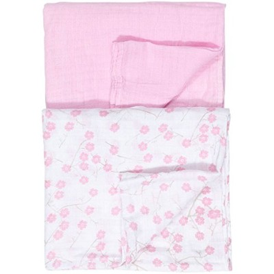 Baby Gear Baby Girls 2-pk. Flower Swaddle Blankets One Size Pink/white by Baby
