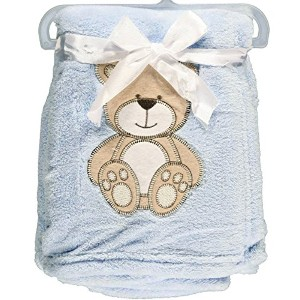 Snugly Baby Teddy Bear Dream Plush Blanket (Blue) by Snugly Baby