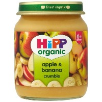 "HiPP Organic Stage 1 ""From 6 Months +""Apple and Banana Crumble 6 x 125 g (Pack of 2, Total 12 Pots)"