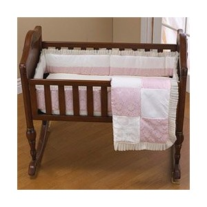 Baby Queen Porta Crib Bedding - Color Pink by Baby Doll