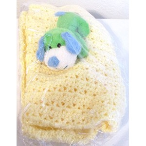 Baby Gift Blanket Handmade (Yellow) by Lullaby Gift Shop