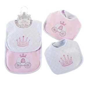 Baby Aspen Little Princess 2 Piece Bib Gift Set, Pink/White by Baby Aspen