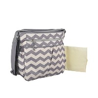 Baby Essentials Grey Chevron Diaper Bag - Cross Body Tote by Baby Essentials