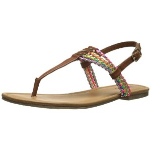 Mia Kids Posh Thong Sandal ( Little Kid / Big Kid ) カラー: ブラウン