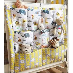 FS Baby Crib Nursery Diaper Bag Storage Stacker Hanging Organizer With 9 Pockets Baby Room Decor (Animal) by SF