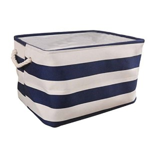 Tosnail Home Essentials Fabric Collapsible Convenient Storage Bin/Basket with Cotton Rope Handle...