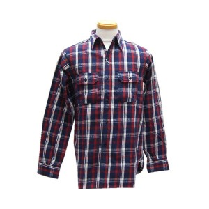 HELLER'S CAFEヘラーズカフェ スウェット Navy Check Flannel Shirts