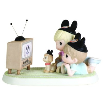Precious Moments Disney Two Kids Laying Down Watching TV Figurine by Precious Moments [並行輸入品]