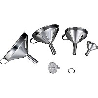 漏斗セット 4 Piece Set Stainless Steel Funnel Set