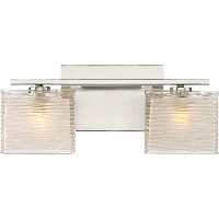 """Quoizel wcp8602led westcap 2ライト15"""" Wide浴室洗面化粧台ライト、 M WCP8602BNLED 1"""