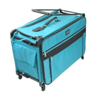 Tutto 9224TMA TURQUOISE Tutto Machine on Wheels Case, 25 by 18.5 by 13, Turquoise by Tutto