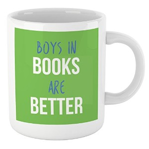 ブックLovers Readingマグ、quote- Boys in Books are Better