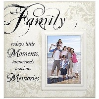 Malden International Designs Decorative Silkscreened Creme Wood Family Moments Picture Frame, 5 X 7...