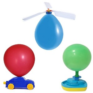 Balloon Powered Vehicle Setバルーン – 3 in 1おもちゃset- Including Balloon Powered Boat , Balloon Powered...