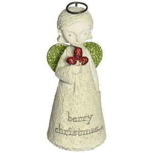 Enesco Bless You Mini Angel with Berries Figurine 3.25 in