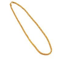 【AF-NE-BR-048】≪75cm SQUARE FOX TAIL CHAIN BLINGBLING NECKLACE≫ エースフラッグ ACEFLAG ブリンブリン ゴールドチェーン...