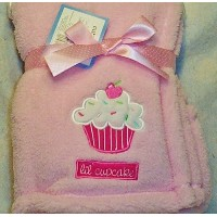 Lil Cupcake Baby Blanket (Pink) by Cutie Pie Baby