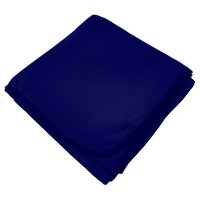SheetWorld Soft & Stretchy Swaddle Blanket - Navy - Made In USA by sheetworld