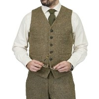 NIGEL CABOURN ナイジェル・ケーボン SHORT VEST OLIVE AUTHENTIC LINE