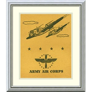 アートフレーム印刷' Army Air Corps ' by Retrotravel Size: 17 x 20 (Approx), Matted イエロー 2591453