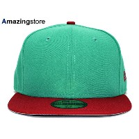 【全35種類以上】NEW ERA 【2T 59FIFTY-BLANK/TEAL-RED】 ニューエラ フラッグ 59FIFTY FITTED CAP [17_9_5 17_10_1 17_9RE]