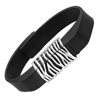 Befitting Zebra Print Fitness Band Accessory inステンレススチールチャーム