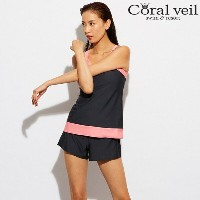 【Coral Veil】NEWCOLOR ワンピース ボトムセットアップ フィットネス 水着 9号/11号 水着 みずぎ ミズギ 水着 レディース水着