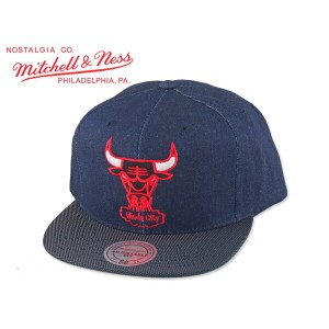 ☆MITCHELL&NESS【ミッチェル&ネス】NBA CHICAGO BULLS Raw Denim 3T PU SNAPBACK シカゴ ブルズ デニム 15656 P16Sep15
