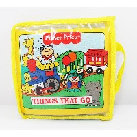 ◎【Fisher-Price/フィッシャープライス】『クッション絵本/THINGS THAT GO』 アメキャラ・アメリカ雑貨・アメリカン雑貨・子供・キッズ・プレゼント・英語・絵本